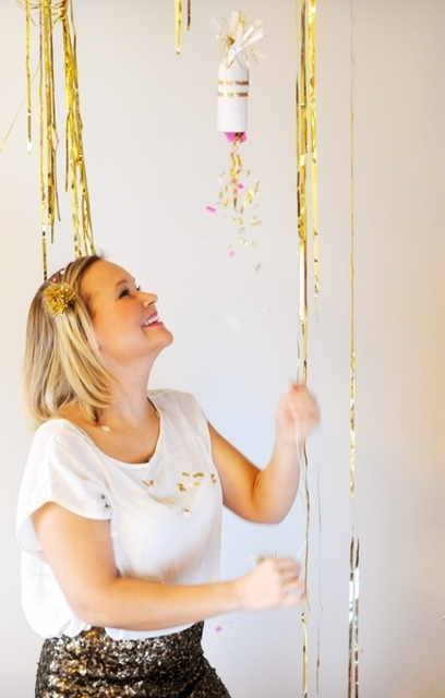 DIY confetti poppers DIY new years eve