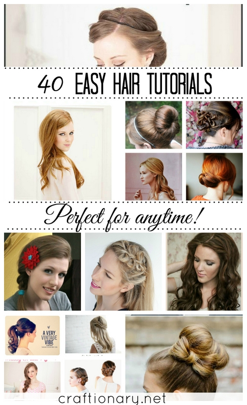 hair tutorials. From ideas to make hair buns, hair braids and hair