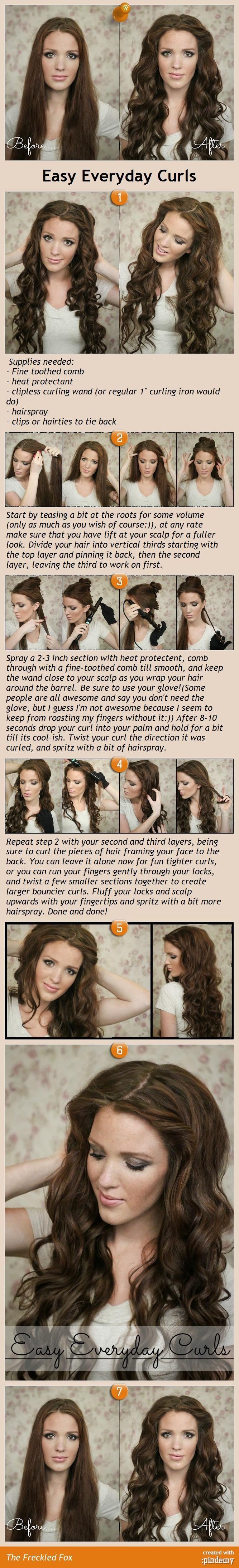 Craftionary easy everyday curls hair tutorial solutioingenieria Images