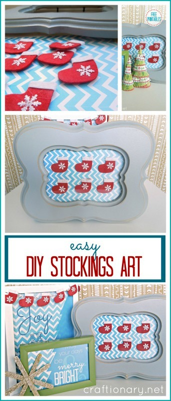 easy DIY Christmas art tutorial with Free Printables