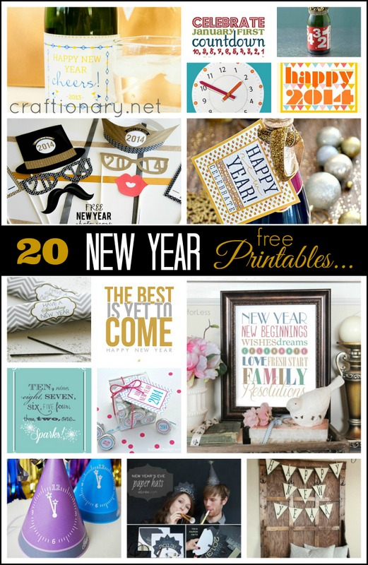 new year printables