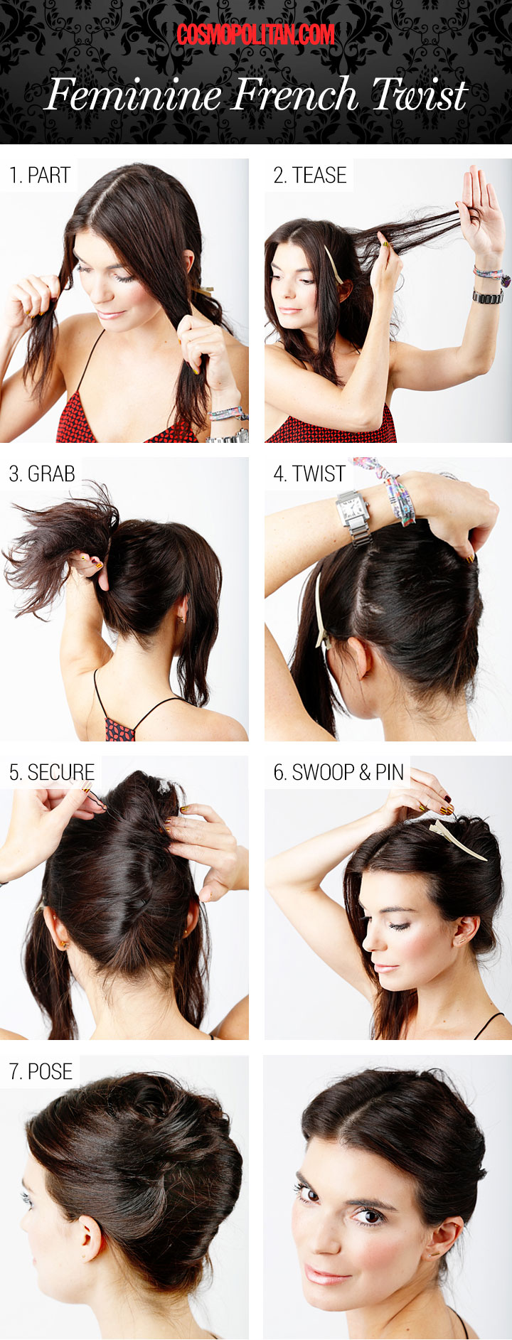 Amazingly easy to make french twist hairstyle.