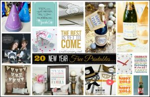 20 Free New Years Printables