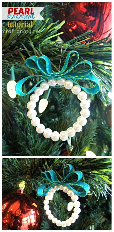 Christmas DIY Pearl ornaments