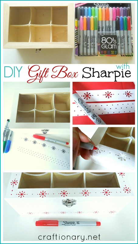 DIY handmade gift box tutorial sharpie