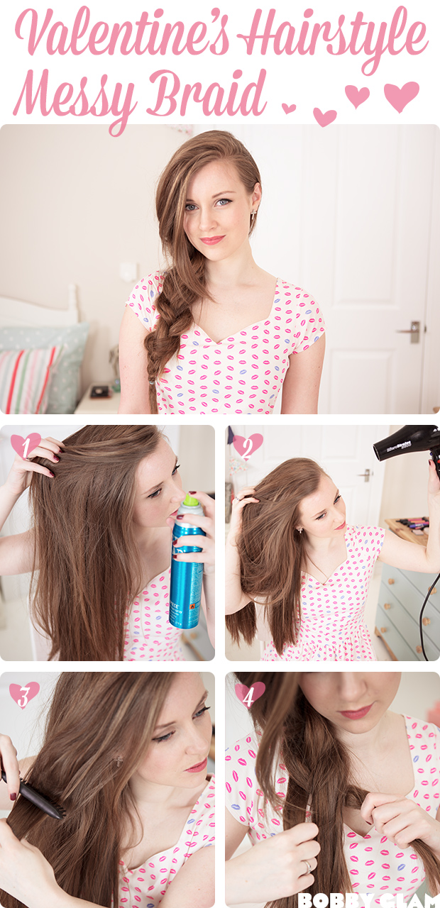 simple side hair braid tutorial