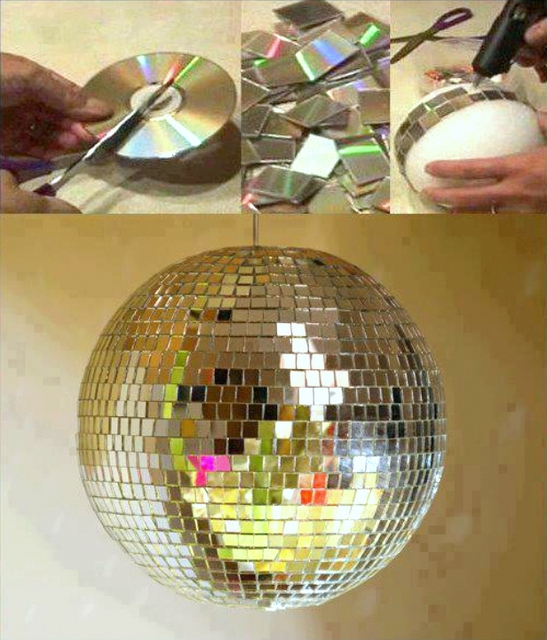 sparkling disco ball DIY new years eve
