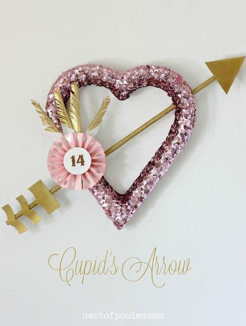 cupids arrow wreath