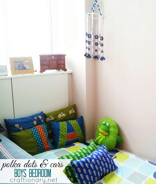 diy cars polka dots baby boy bedroom