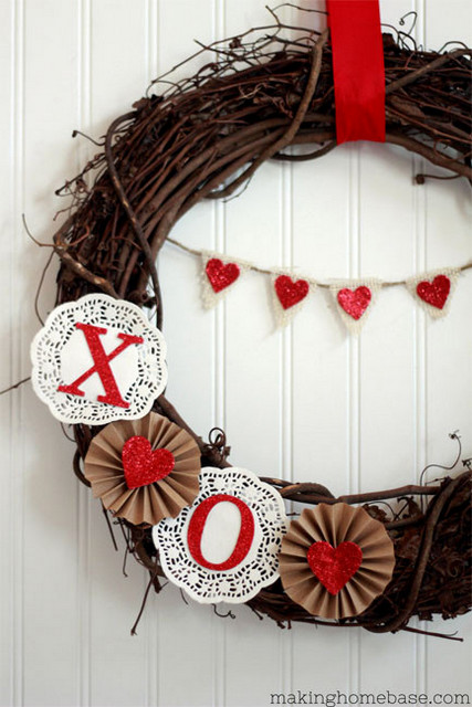 valentines day valentines wreath