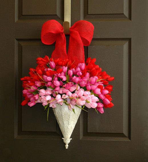 bouquet valentines day wreath