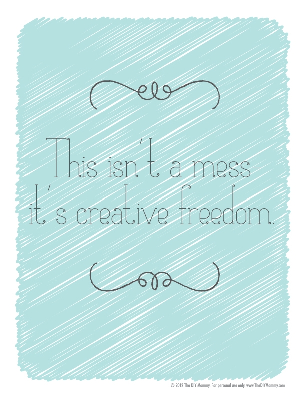creative mess free printable