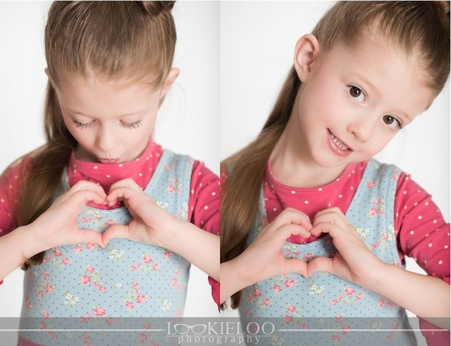 cute heart kids photo