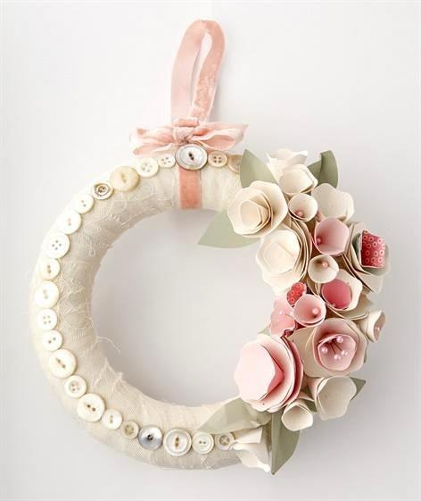 Sequined Heart Wreath With Cupid S Arrow Diy
