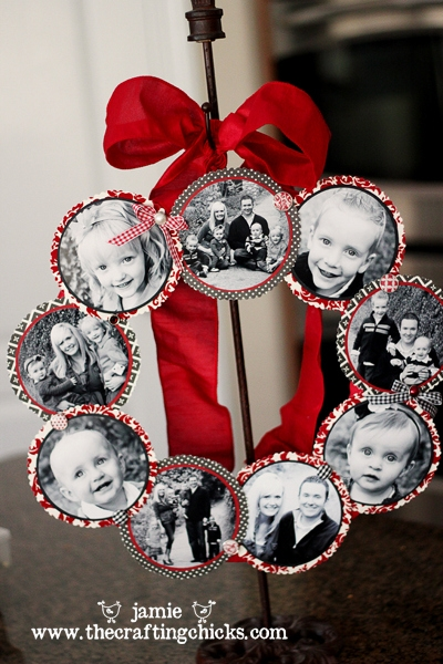 family photos wreath