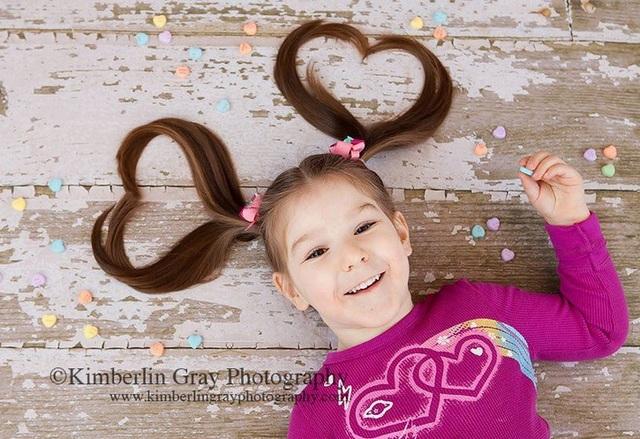 hearts ponytails photo idea