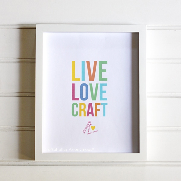 live love craft printable