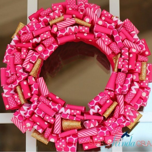 valentines day wreaths ribbon wreath