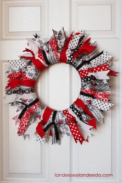 ribbon valentines day wreath