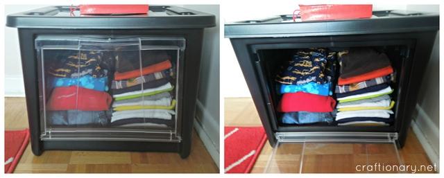 Rubbermaid storage bins cltohes