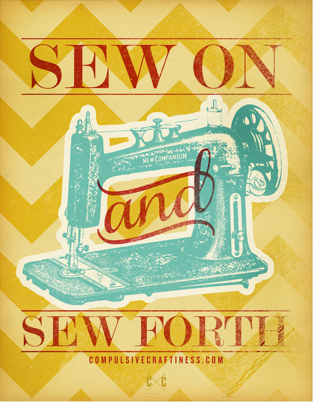 sew on poster