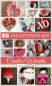 25 Valentines Day Wreaths (DIY Tutorials)