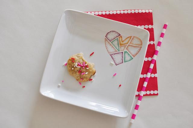 sharpie heart plate