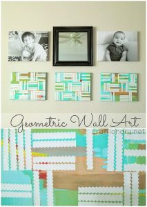 DIY Geometric Paintings Canvas Art