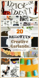 DIY halloween garlands buntings banners pennants