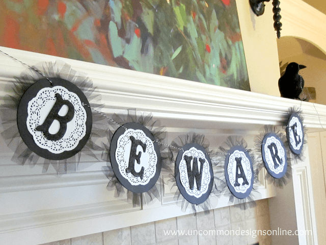 beware halloween banner