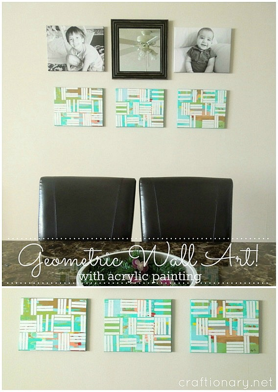 make geometric paintings