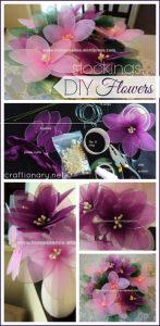 make nylon flower