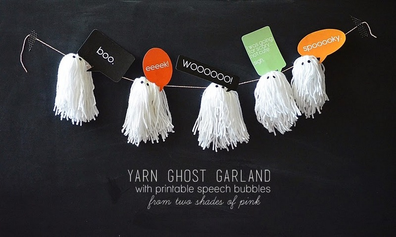 yarn ghosts garland