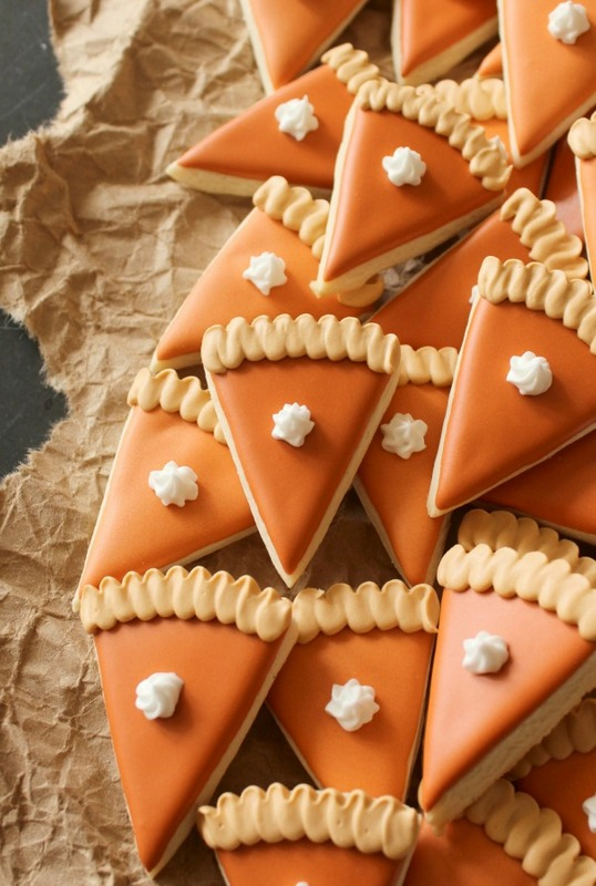 Mini pumpkin pie slice cookies easy to make delicious to eat