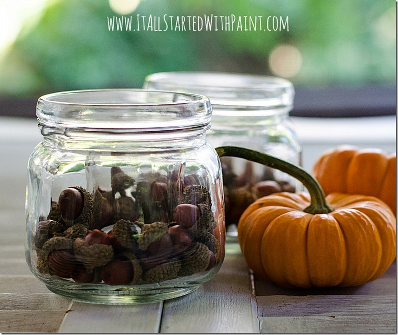 make DIY acorn crafts votive tutorial