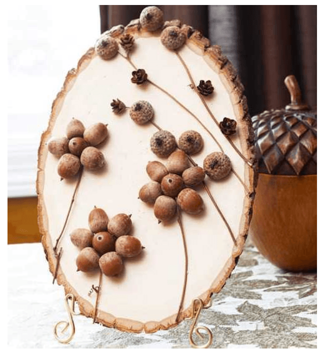 Craftionary for How to make acorn ornaments