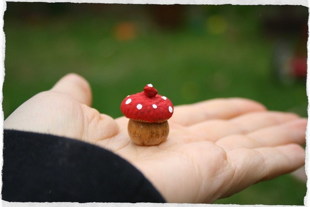 acorn toadstools kids crafts