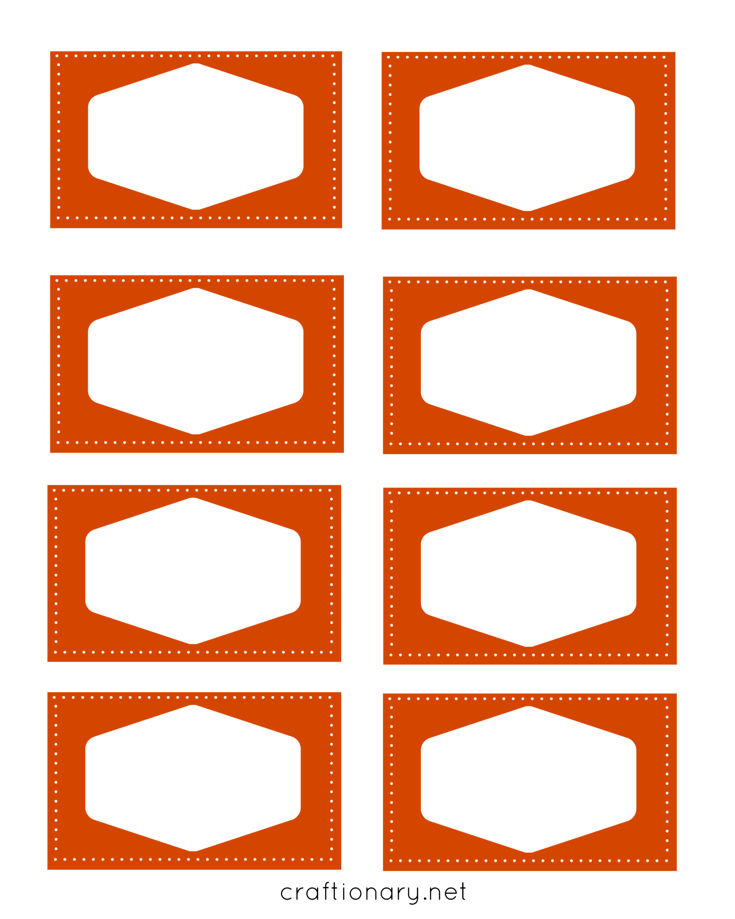 book label printables orange