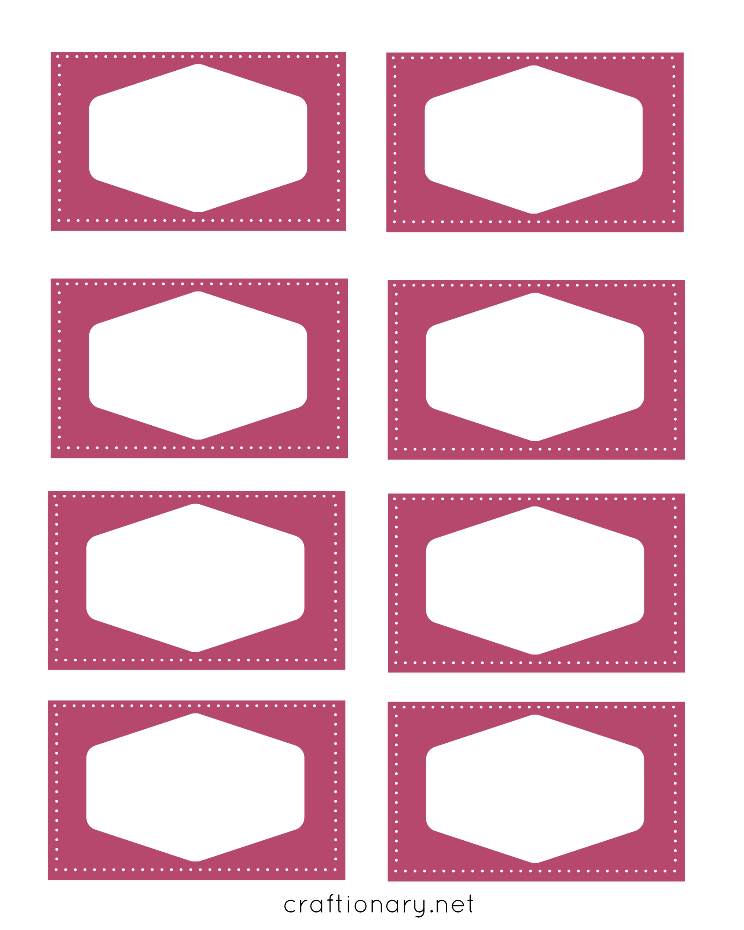 book label printables pink