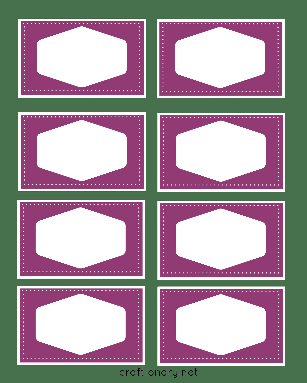 book label printables purple