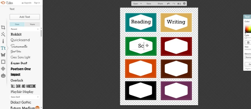 book labels tutorial 3