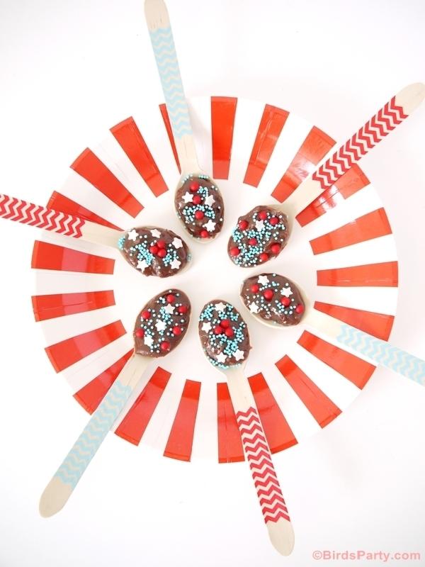 chocolate fudge spoons