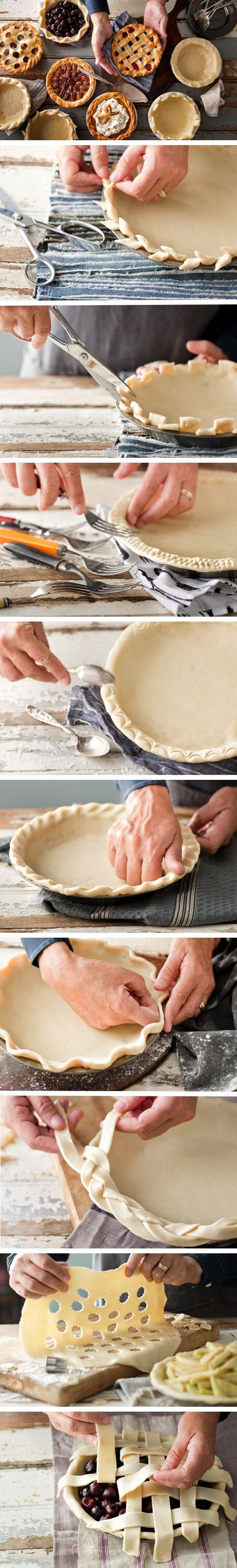 creative fall recipes - creative pie crusts
