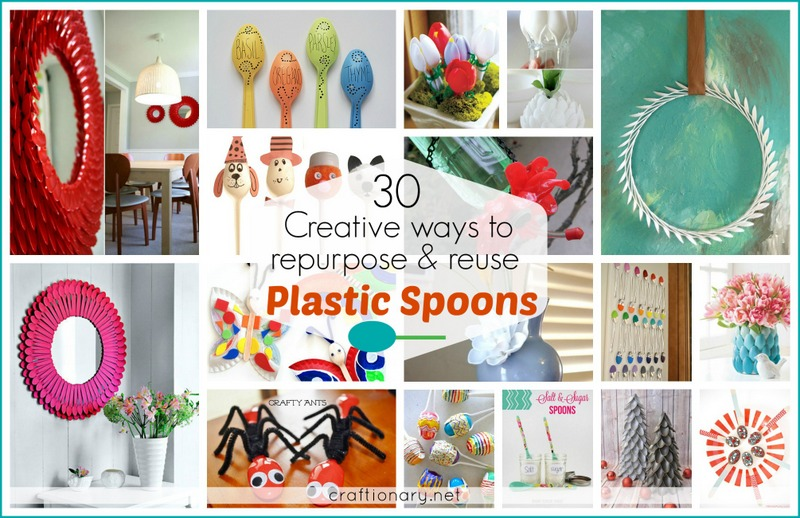 Craft Ideas For Kids At Home Part - 48: Creative Plastic Spoon Ideas Home Kids Craftionary.net