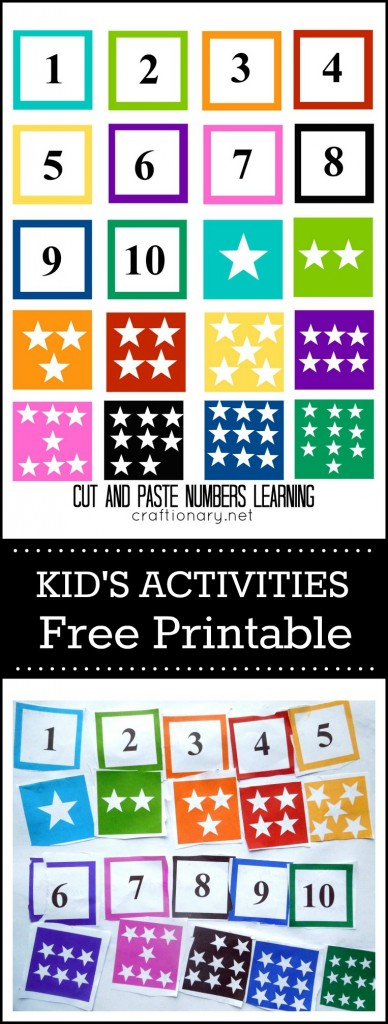 Free printable numbers matching