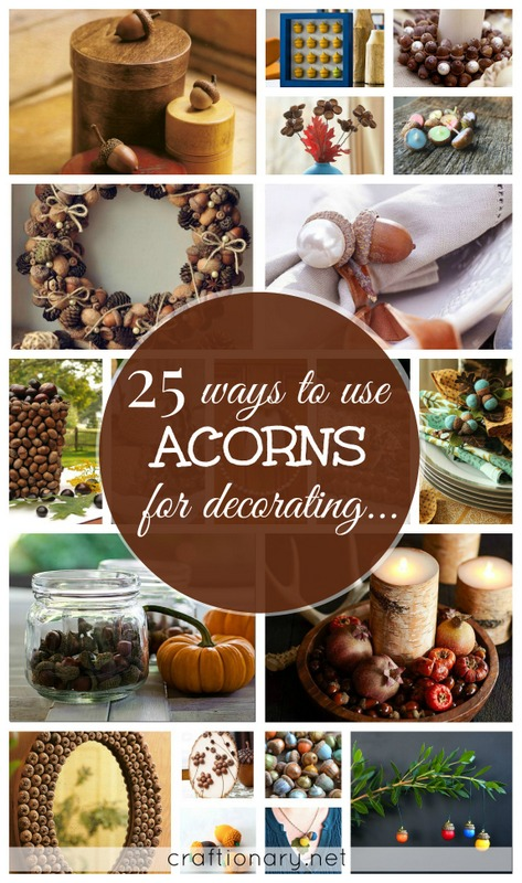 make diy acorn crafts
