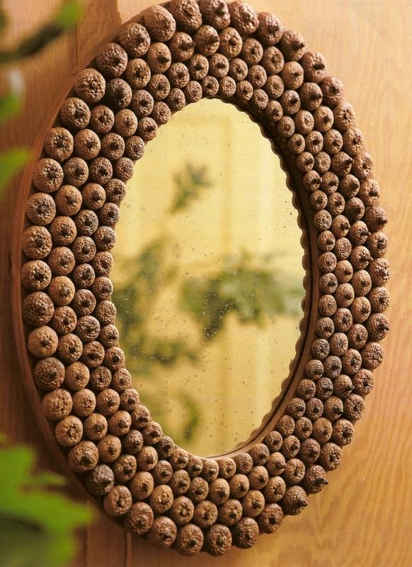 diy acorn mirror