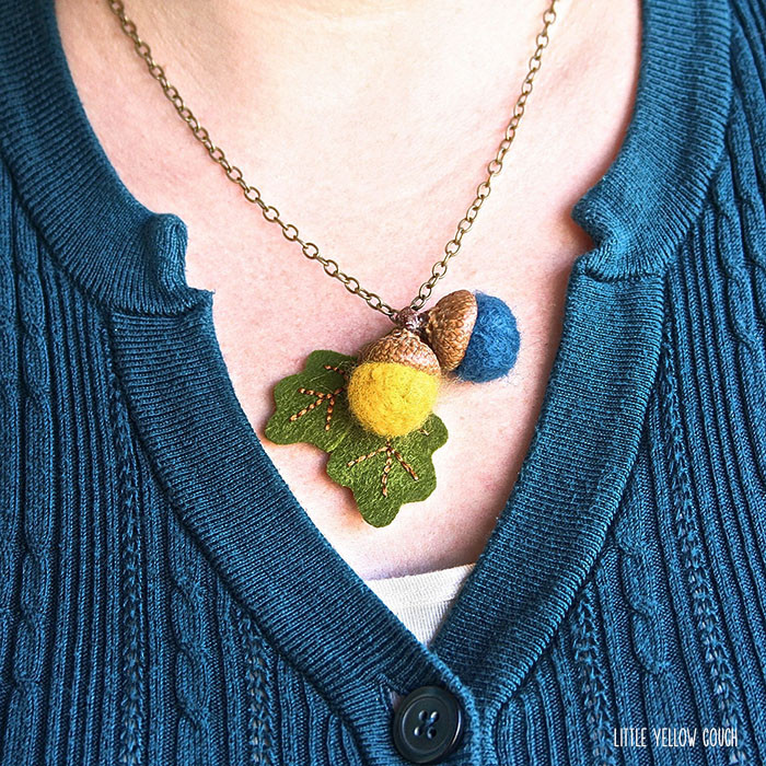 diy acorn necklace