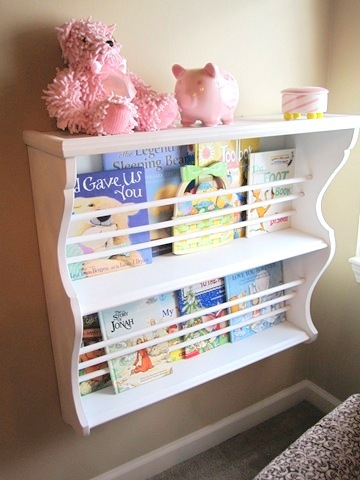 DIY books rack from table