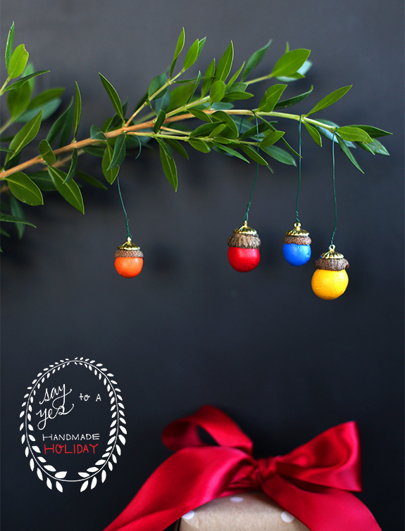 DIY acorn ornaments Christmas